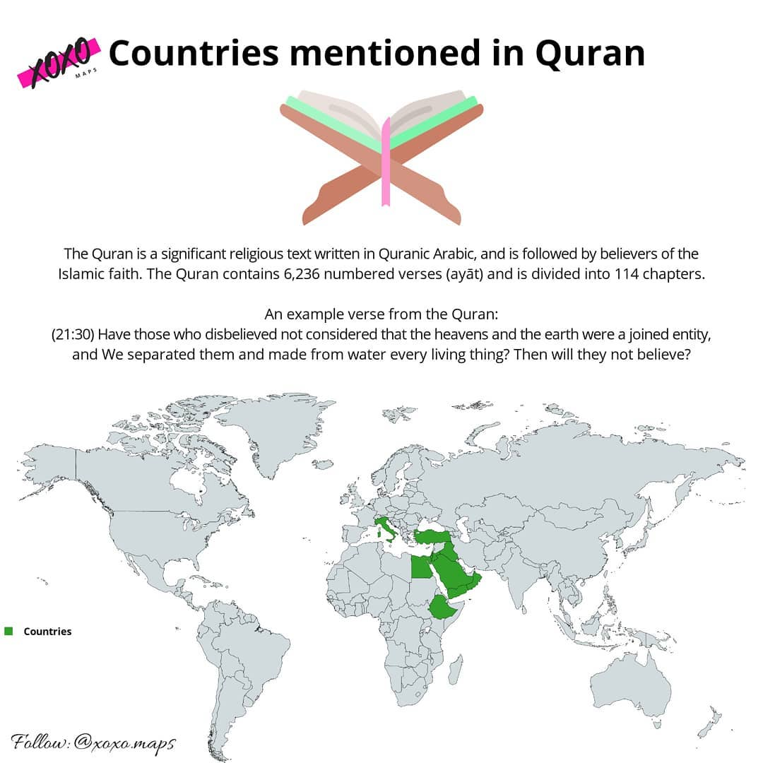 Countries mentioned in quran